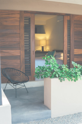 hotel rooms at lo sereno designed to perfection with beachside views